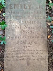 Emily Aldrich Tombstone Lincoln #34