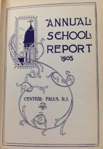 1905 Annual School Report Cover